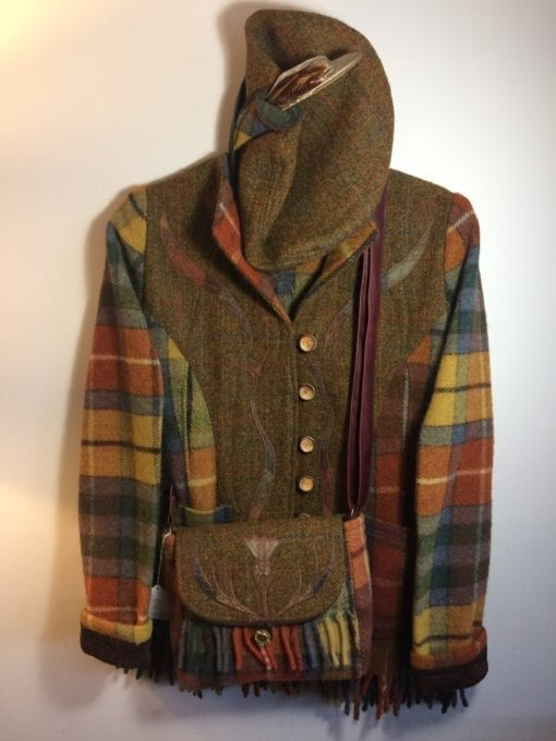 A traditional Harris Tweed and Antique Buchanan Wool Jacket, classic Scottish Apparel for the cold highlands!