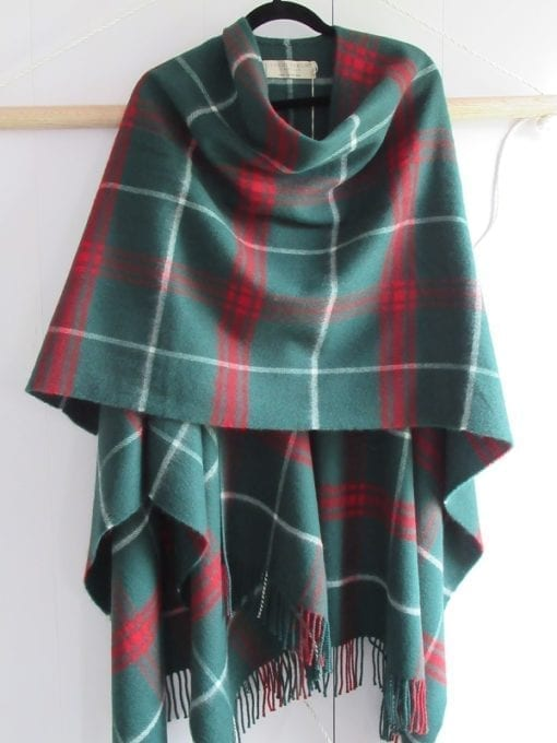 A gorgeous Lambswool Serape depicting the national colors of Wales plaid