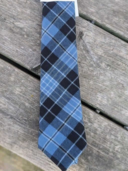 A Clergy Tartan tie made in Scotland