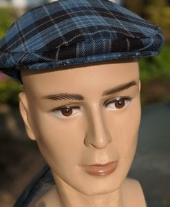 A front profile of our Ancient Clergy Tartan hat